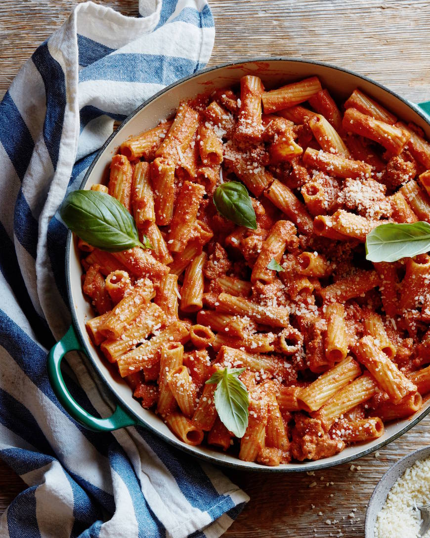 Chicken Pasta with Vodka Sauce from www.whatsgabycooking.com (@whatsgabycookin)