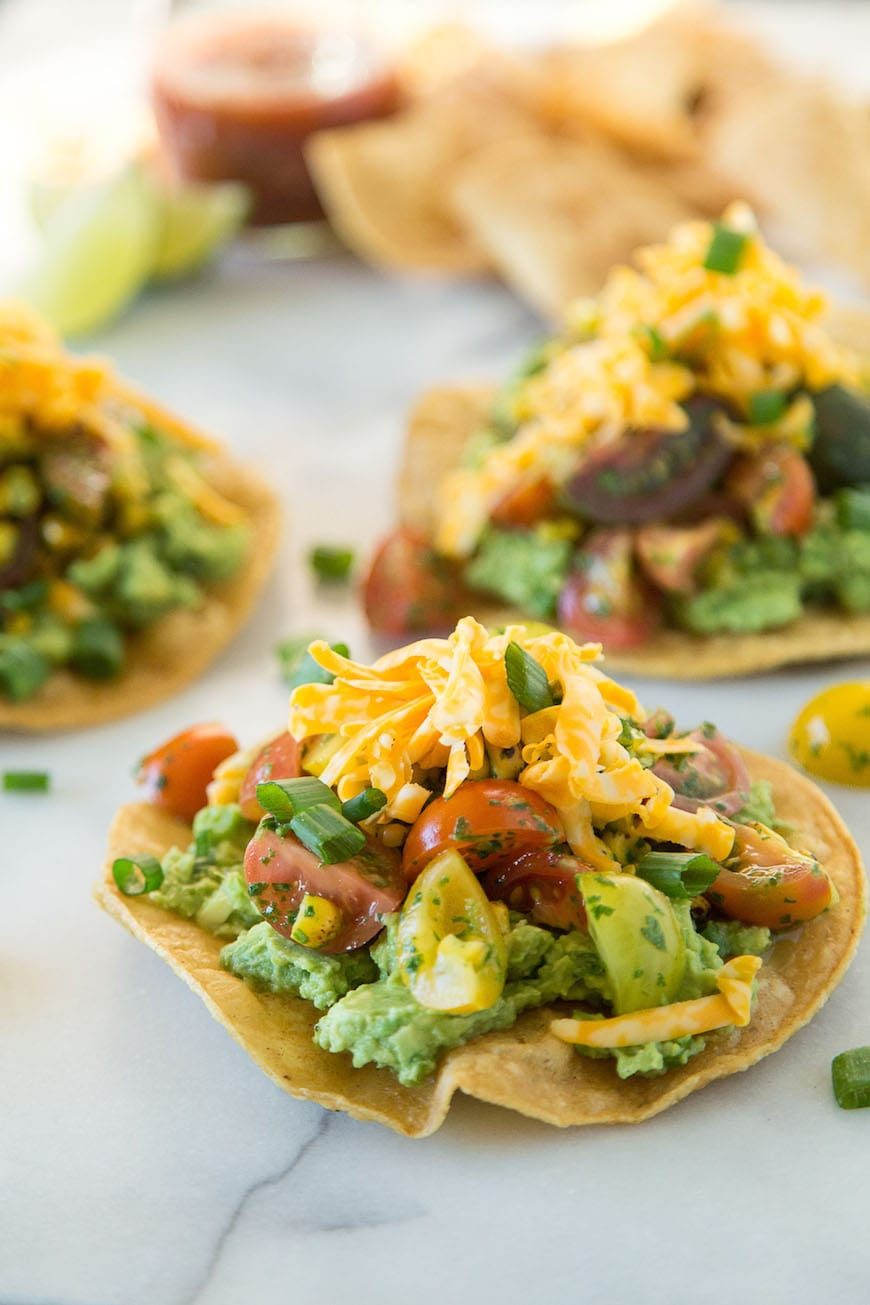 Avocado Tostadas with Tomato Salad