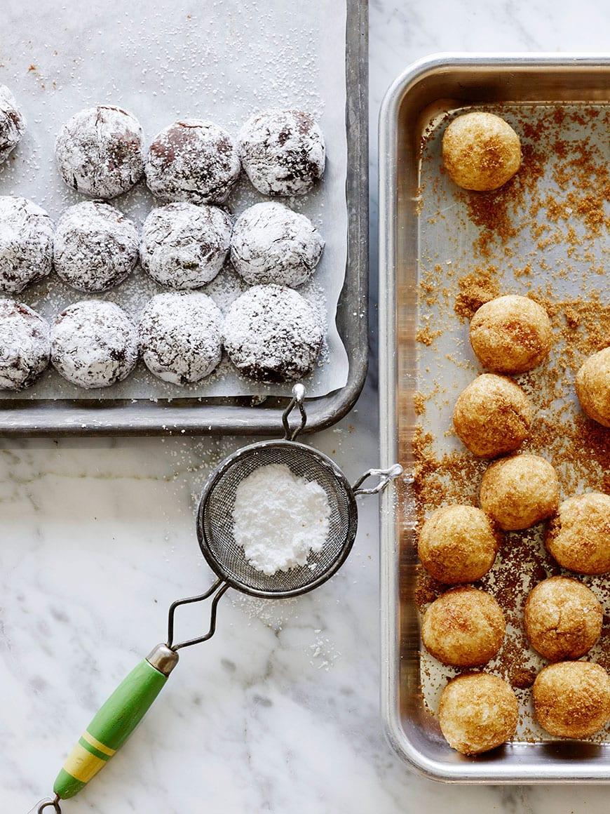 Crinkle Cookies and Snickerdoodles