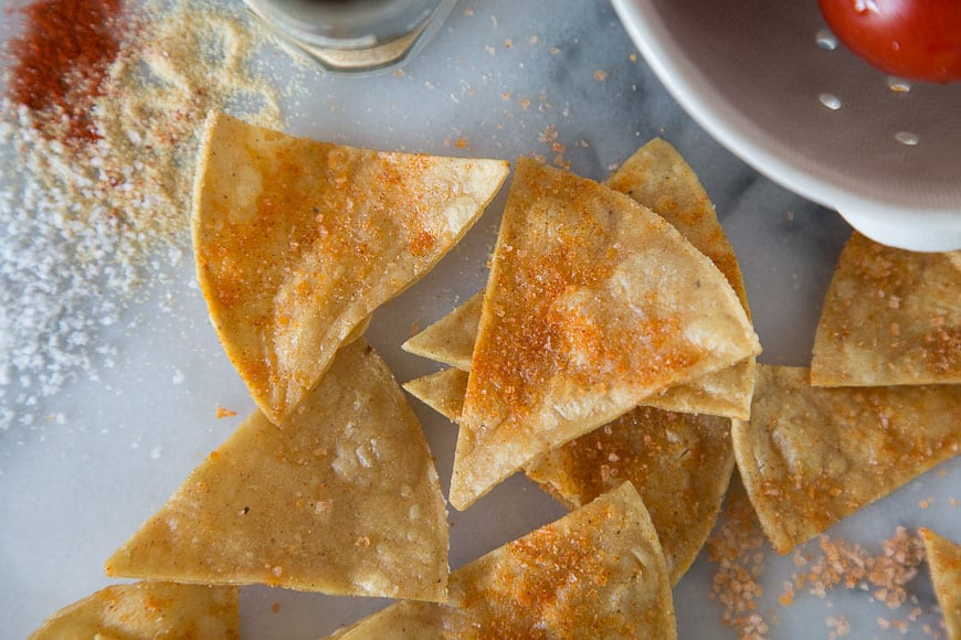 Guacamole Salsa with Spice Dusted Chips
