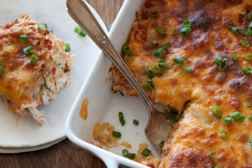 Mexican Lasagna from www.whatsgabycooking.com @whatsgabycookin) in part of the Leftover Turkey Recipes round up!