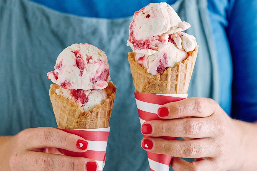 Strawberry Cheesecake Ice Cream Cones