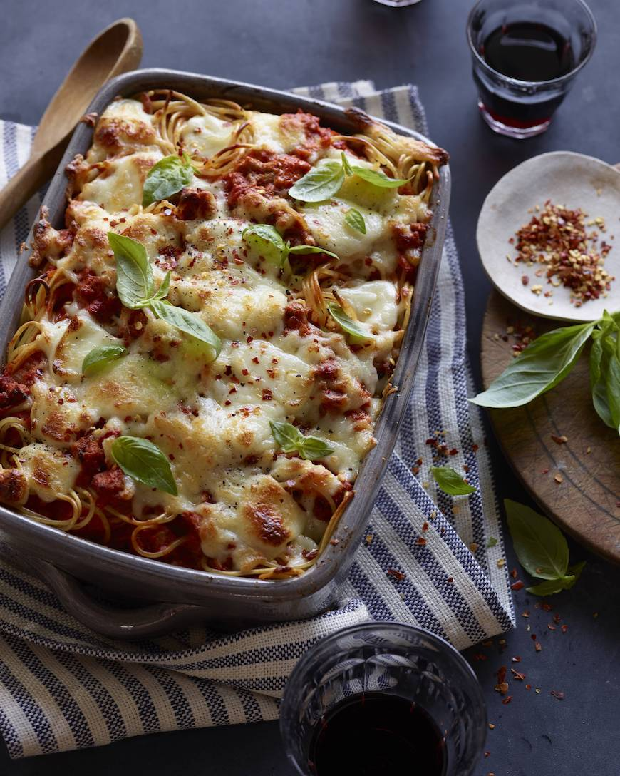 Turkey Spaghetti Bake from www.whatsgabycooking.com (@whatsgabycookin)