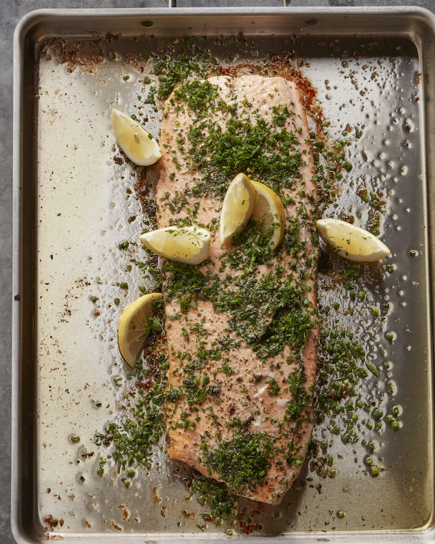 Herb Crusted Roasted Salmon from www.whatsgabycooking.com (@whatsgabycookin)