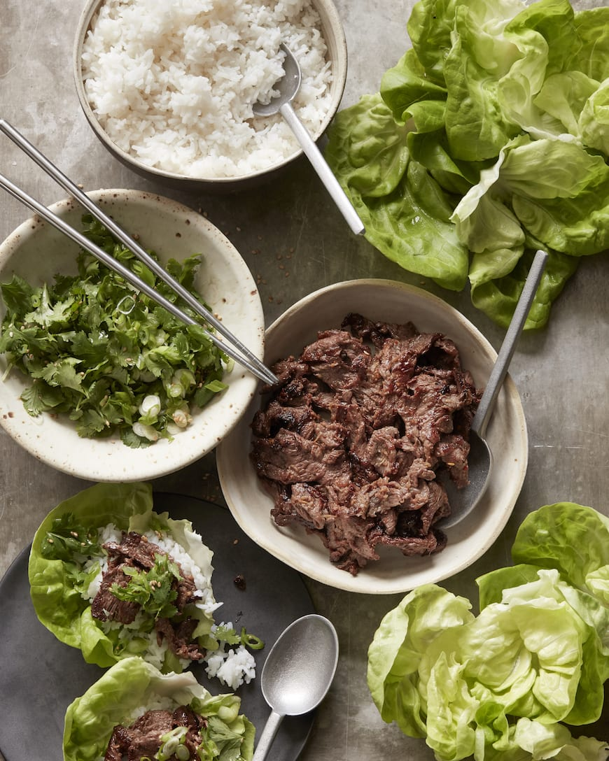 Beef Bulgogi Lettuce Wraps from www.whatsgabycooking.com (@whatsgabycookin)