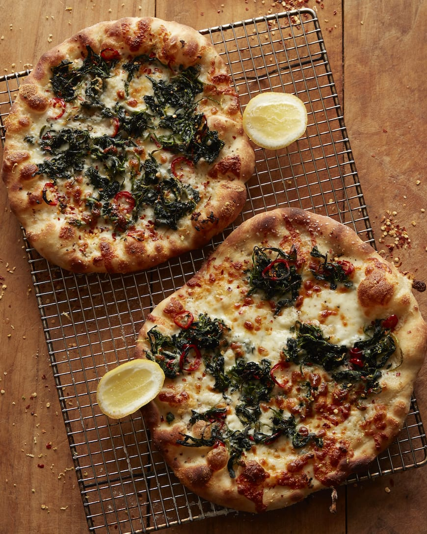 White Pizza with Spinach and Lemon - What's Gaby Cooking