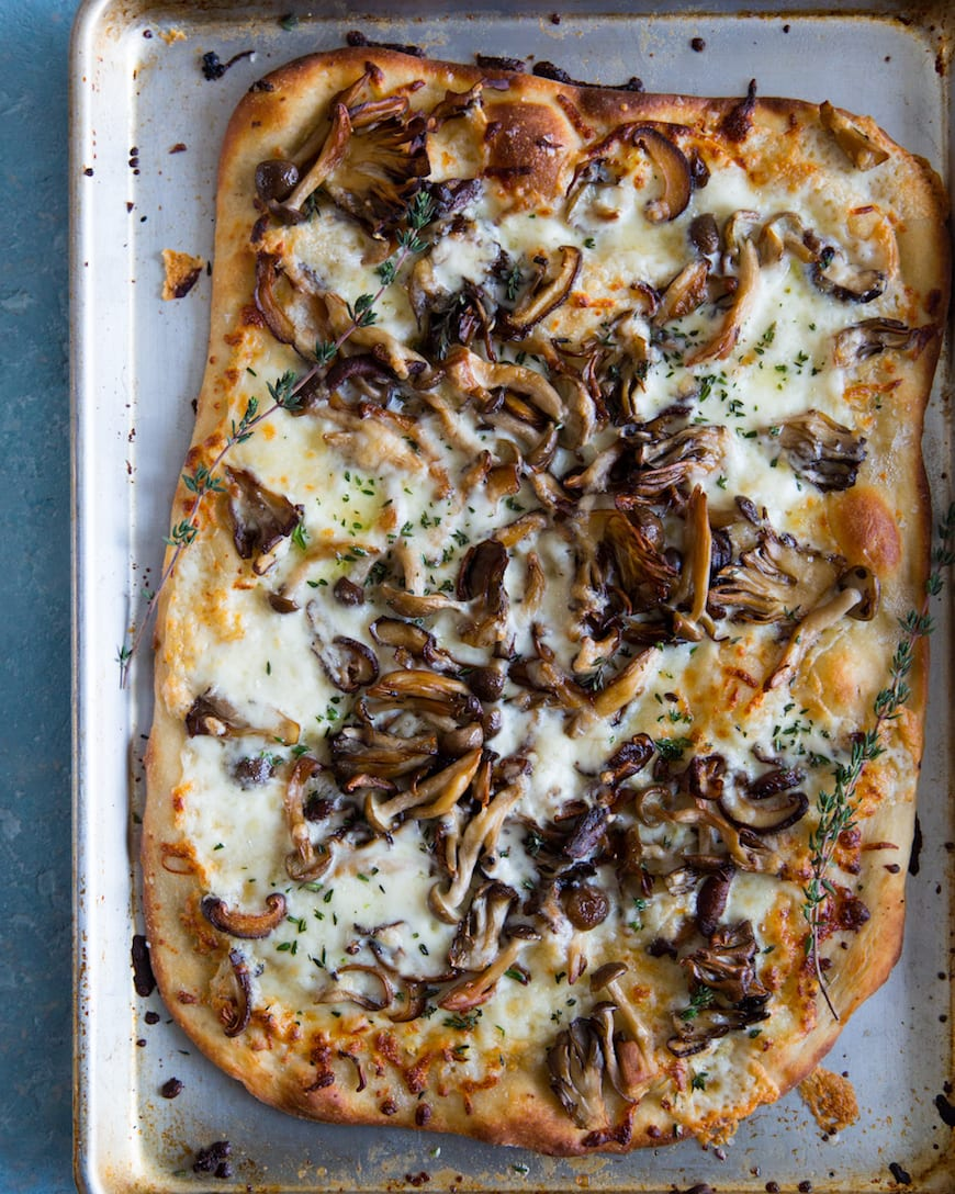 Caramelized Wild Mushroom Pizza from www.whatsgabycooking.com (@whatsgabycookin)