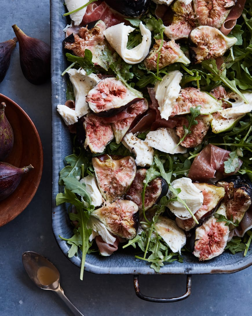 Fig Salad with Fresh Mozzarella from www.whatsgabycooking.com (@whatsgabycookin)
