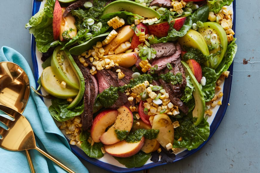 Loaded Grilled Steak Salad from www.whatsgabycooking.com (@whatsgabycookin)