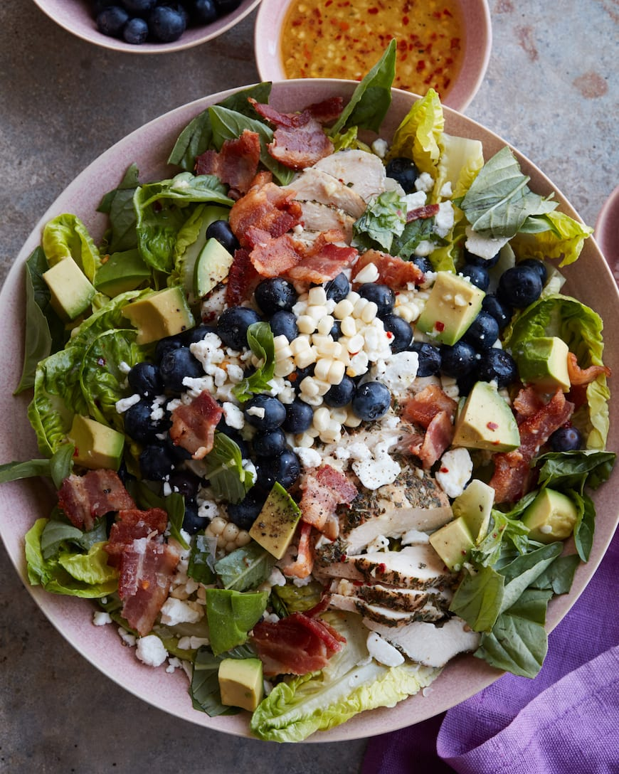 Summer Grilled Chicken Power Salad from www.whatsgabycooking.com (@whatsgabycookin)