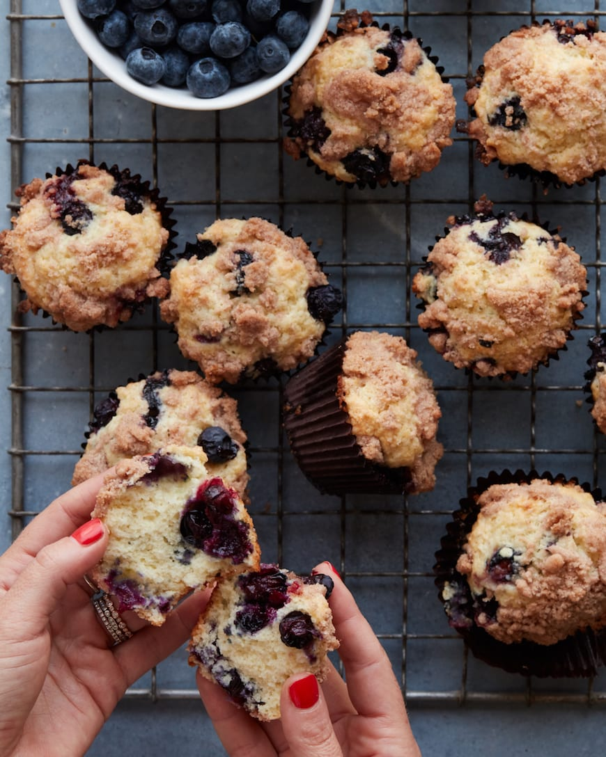 Blueberry Streusel Muffins from www.whatsgabycooking.com (@whatsgabycookin)