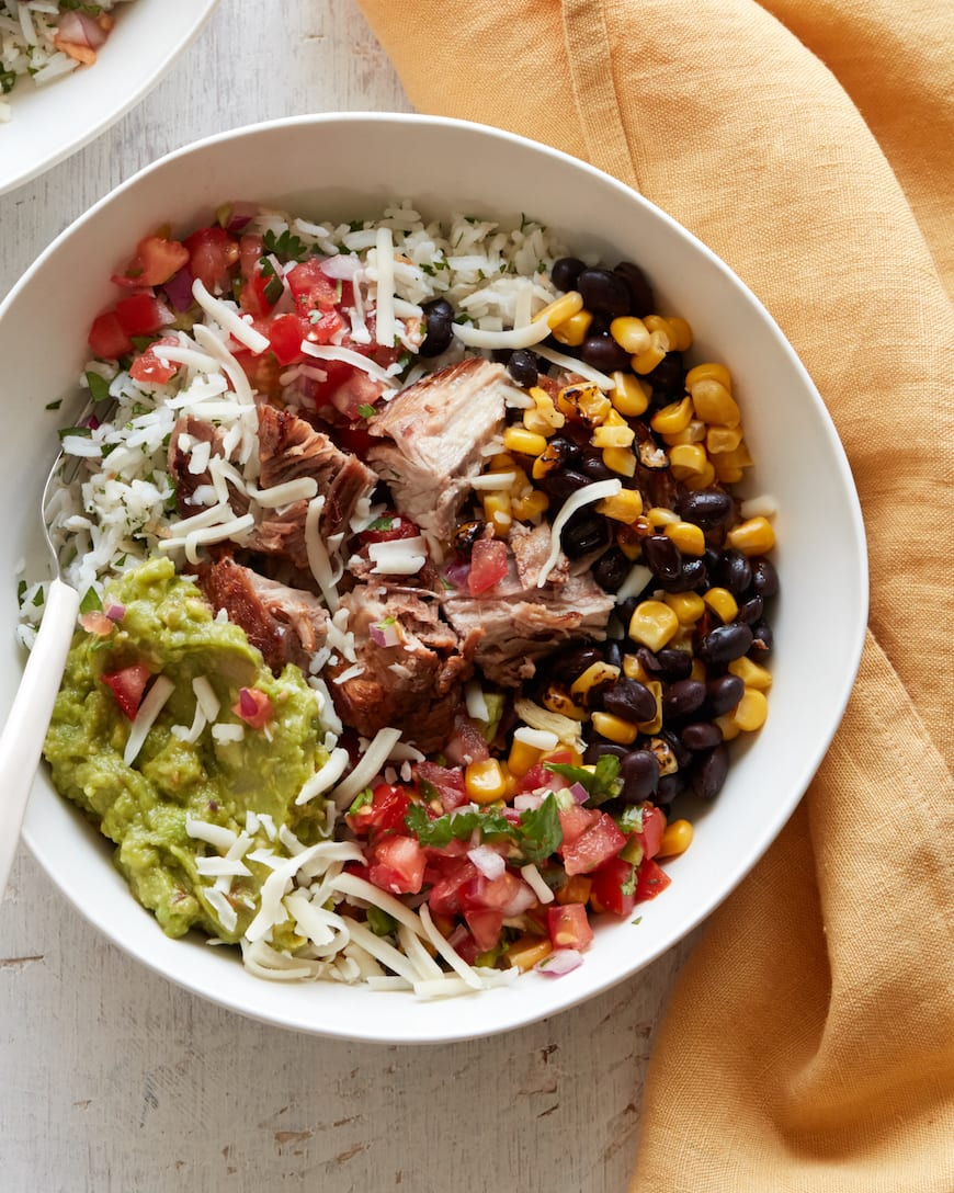 Carnitas Burrito Bowl from www.whatsgabycooking.com (@whatsgabycookin)