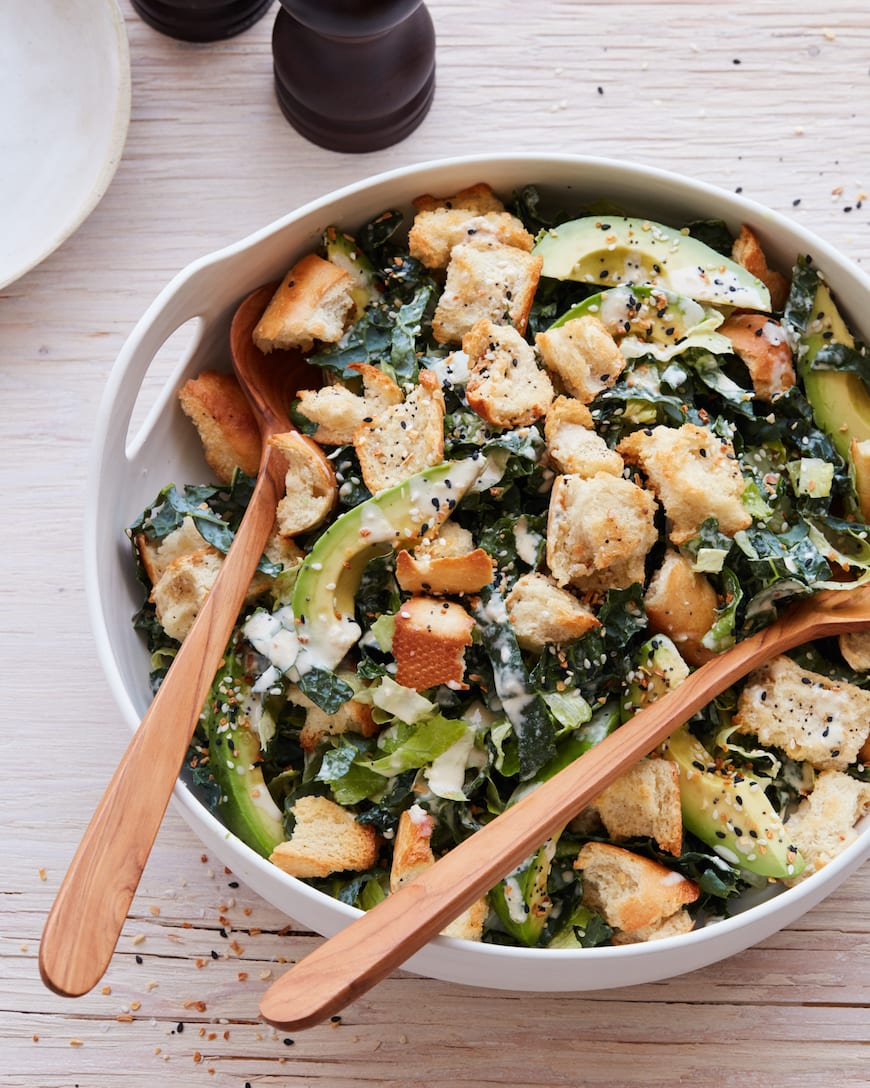 Vegan Kale Caesar from www.whatsgabycooking.com (@whatsgabycooking)