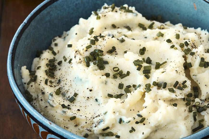 Mascarpone Mashed Potatoes from www.whatsgabycooking.com (@whatsgabycookin)