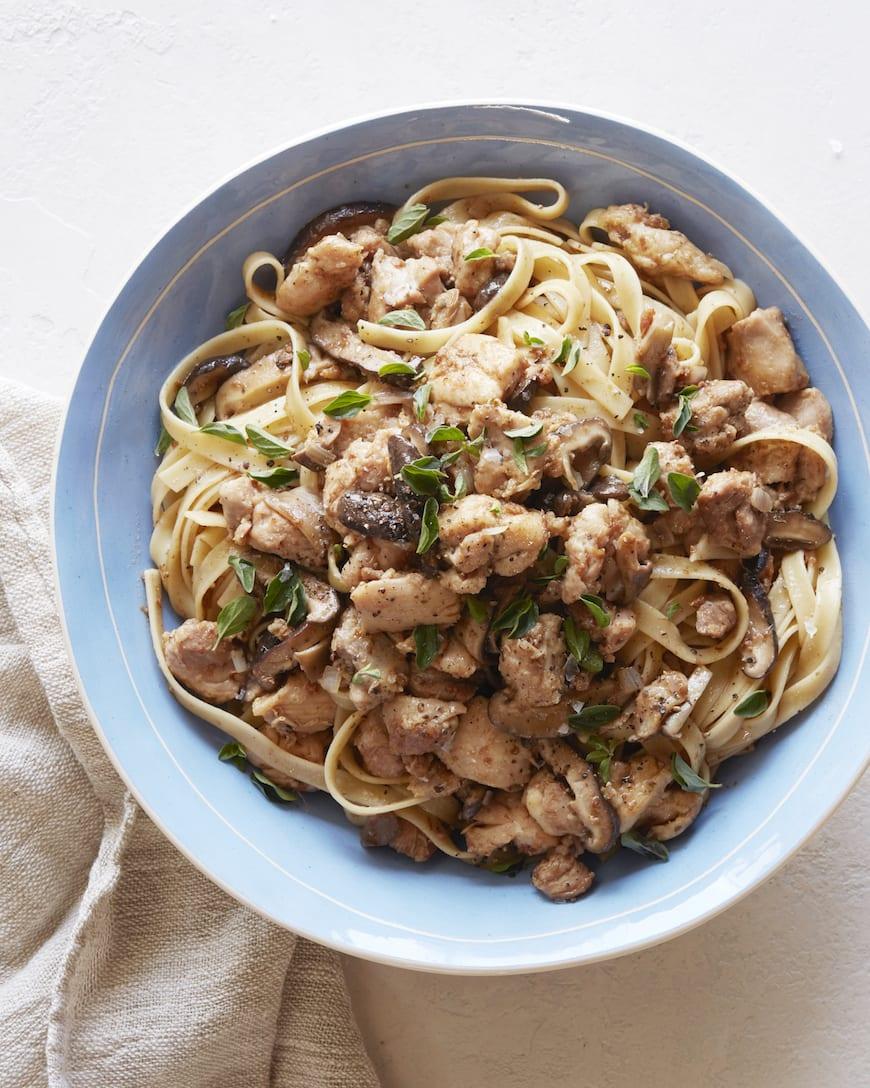 Mushroom Chicken Marsala Pasta from www.whatsgabycooking.com (@whatsgabycookin)