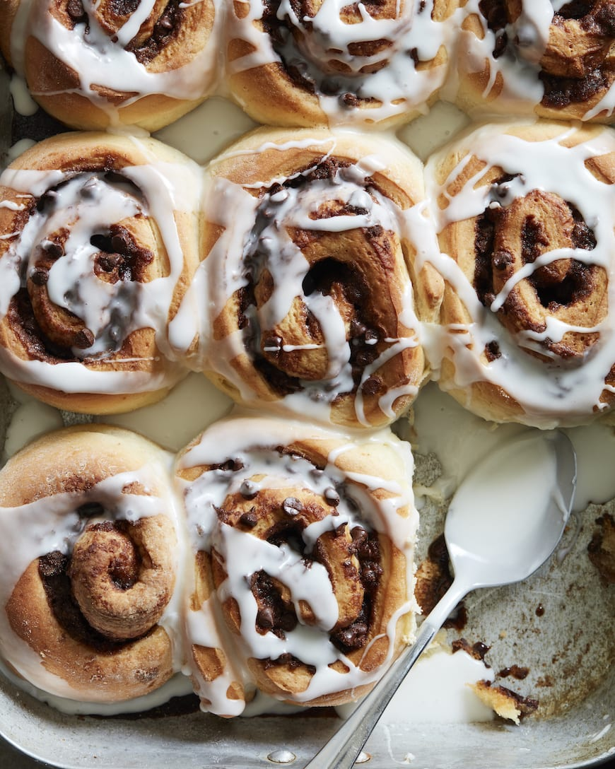 Chocolate Chip Cinnamon Rolls from www.whatsgabycooking.com (@whatsgabycookin)