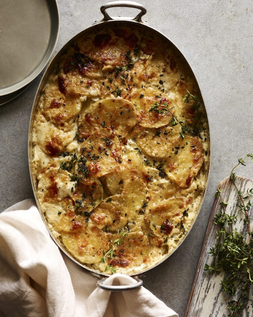 Cheesy Potato Gratin from the Easter Dinner Menu on www.whatsgabycooking.com (@Whatsgabycookin)