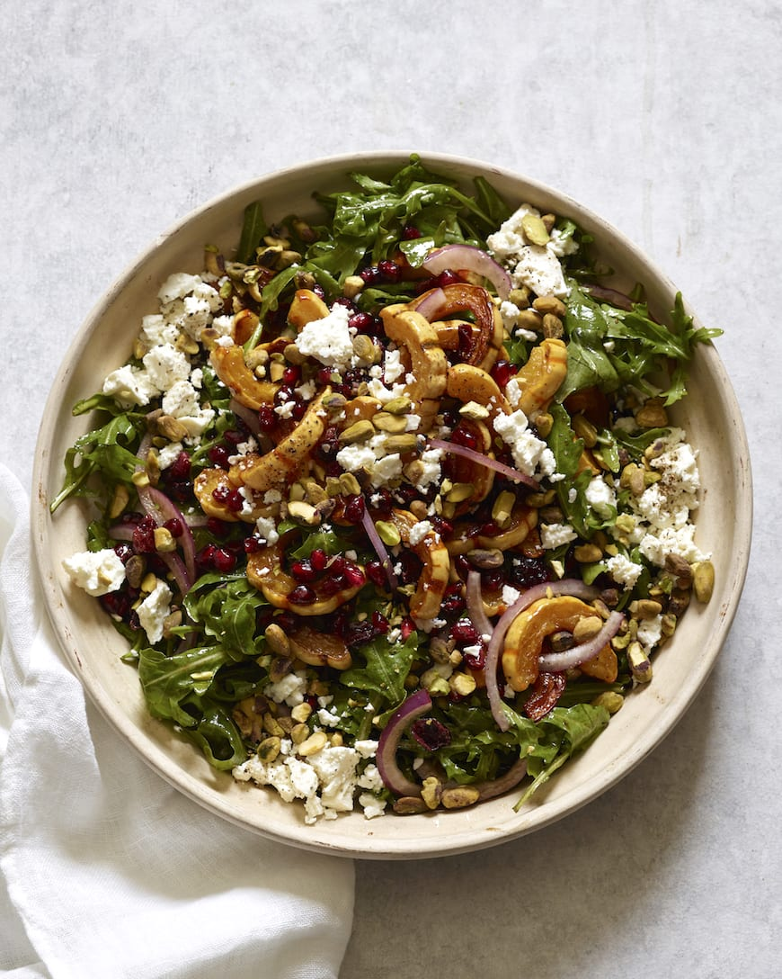 Delicata Squash Salad from www.whatsgabycooking.com (@whatsgabycookin)