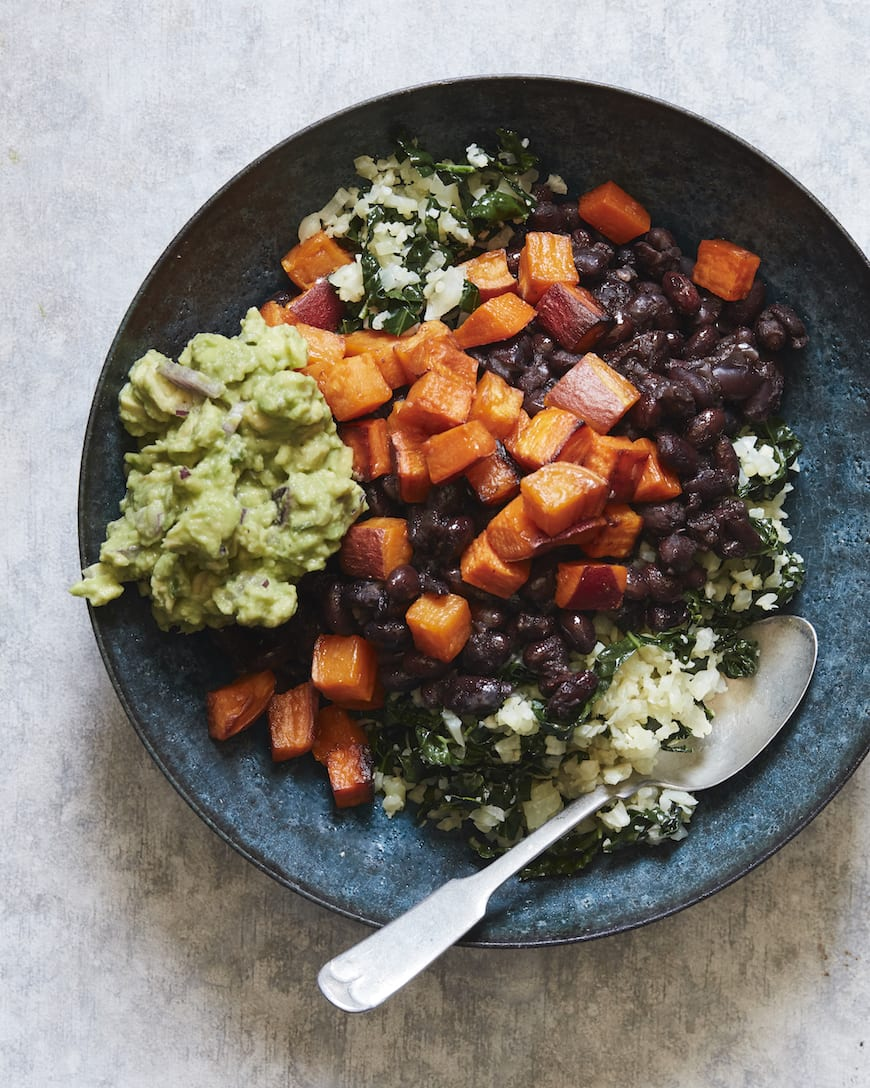 Cauliflower Rice Veggie Bowls (with Instant Pot Black Beans) from www.whatsgabycooking.com (@whatsgabycookin)