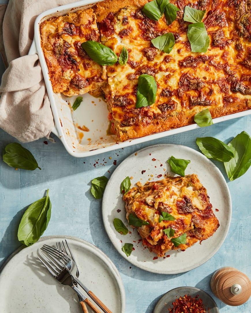 Roasted Vegetable Lasagna from www.whatsgabycooking.com (@whatsgabycookin)