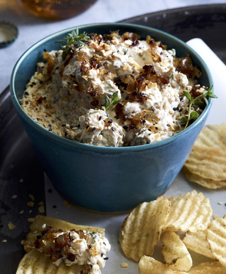 Roasted Onion Dip from www.whatsgabycooking.com (@whatsgabycookin)