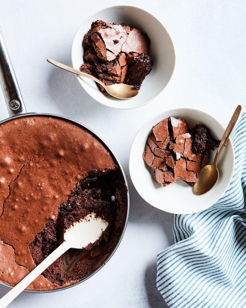 Chocolate Brownie Pudding from www.whatsgabycooking.com (@whatsgabycookin)