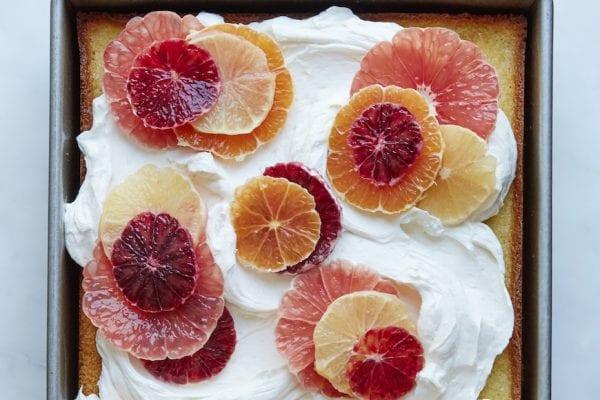 Citrus Sheet Cake from www.whatsgabycooking.com (@whatsgabycookin)