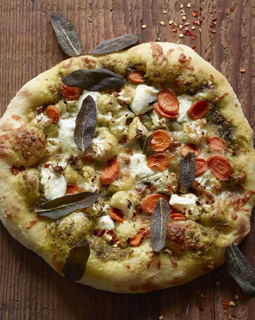Roasted Vegetable Pizza from www.whatsgabycooking.com (@whatsgabycookin)