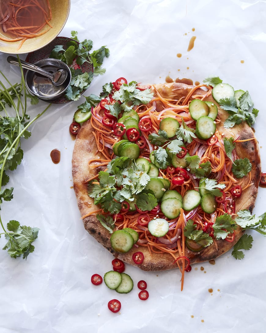 Veggie Bahn Mi Pizza from www.whatsgabycooking.com (@whatsgabycookin)