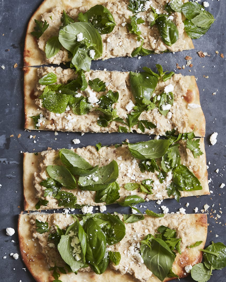 Eggplant and Herb Flatbread from www.whatsgabycooking.com (@whatsgabycookin)