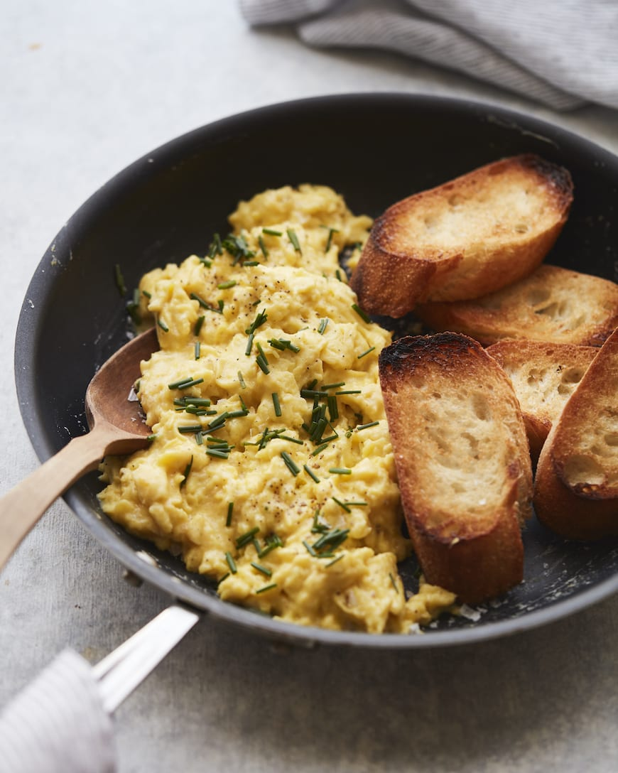 Perfectly Soft Scrambled Eggs from www.whatsgabycooking.com (@whatsgabycookin)