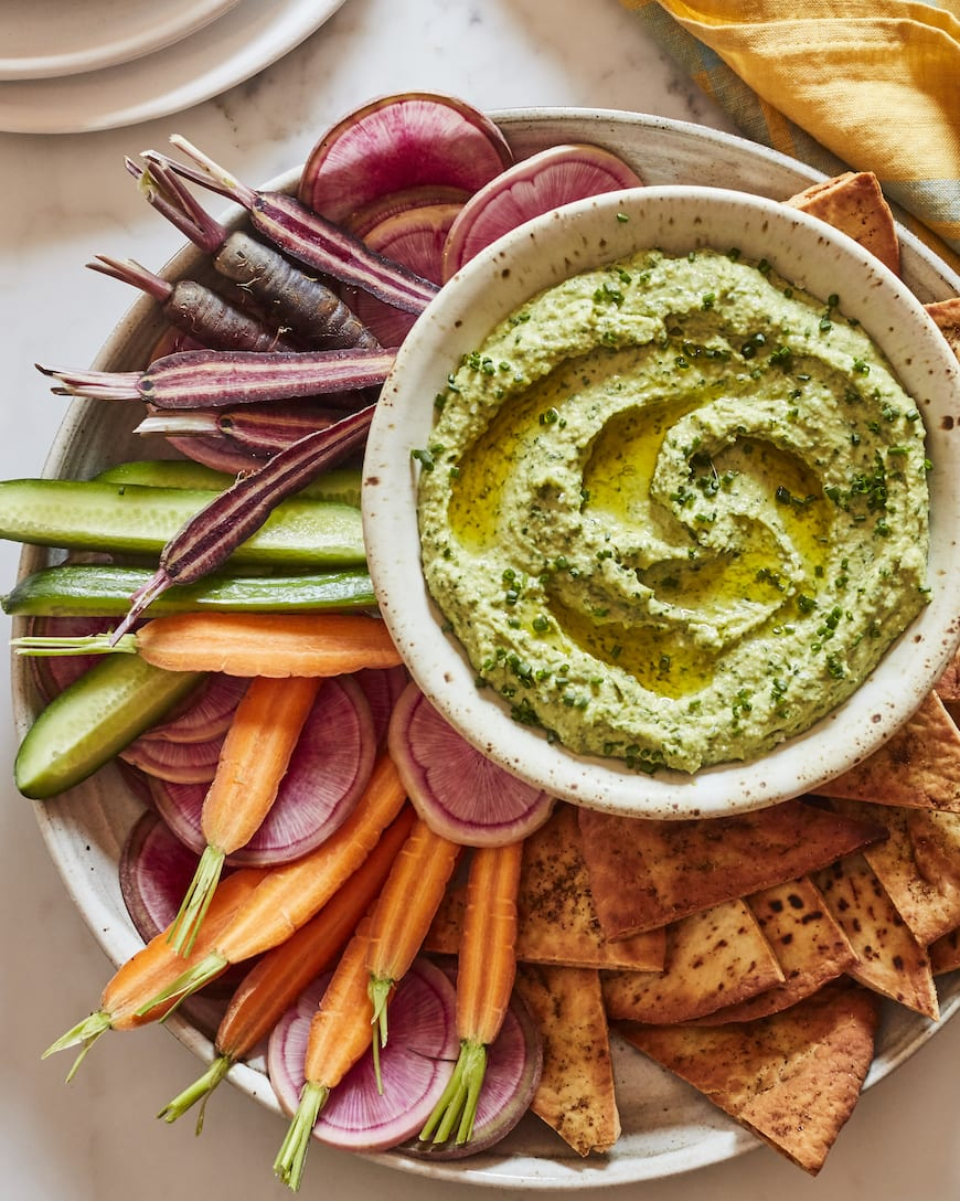 Green Goddess Hummus from www.whatsgabycooking.com (@whatsgabycookin)