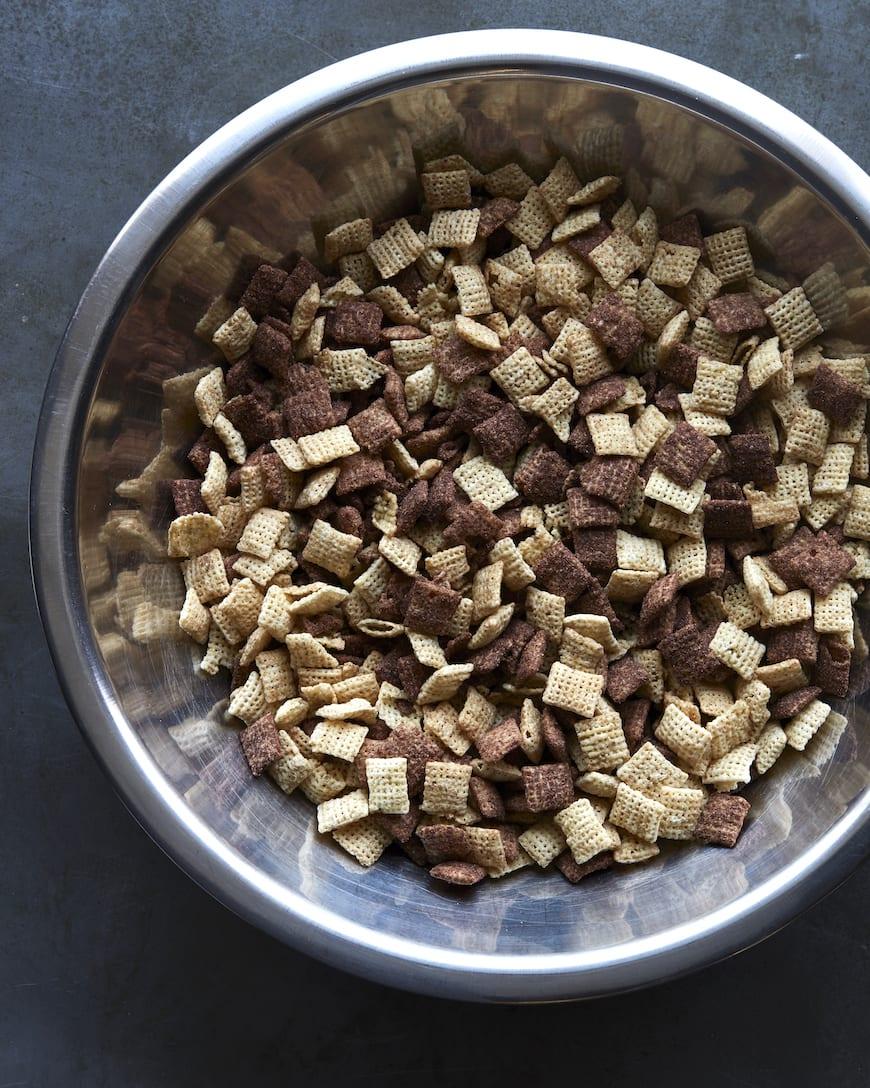 Double Dark Chocolate Muddy Buddies from www.whatsgabycooking.com (@whatsgabycookin)