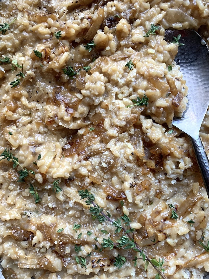 Caramelized Onion Risotto from www.whatsgabycooking.com (@whatsgabycookin)