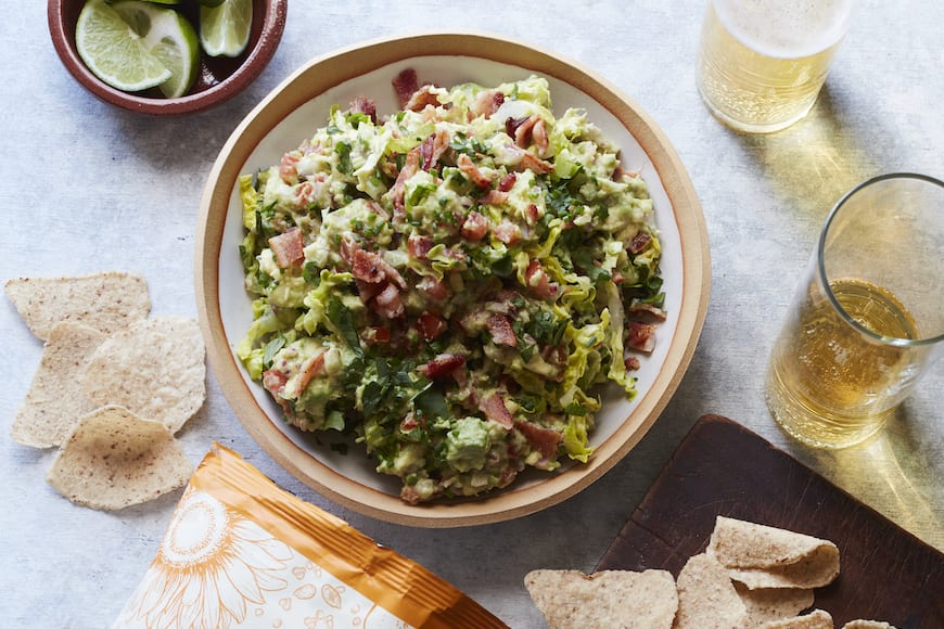 BLT Guacamole from www.whatsgabycooking.com (@whatsgabycookin)