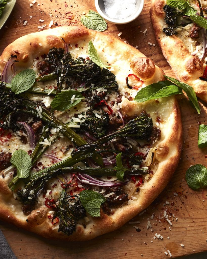 Broccolini Sausage Pizza from www.whatsgabycooking.com (@whatsgabycookin)