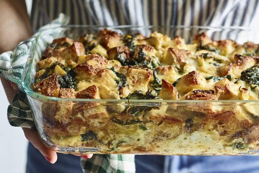 Spinach Artichoke Strata from www.whatsgabycooking.com (@whatsgabycookin)