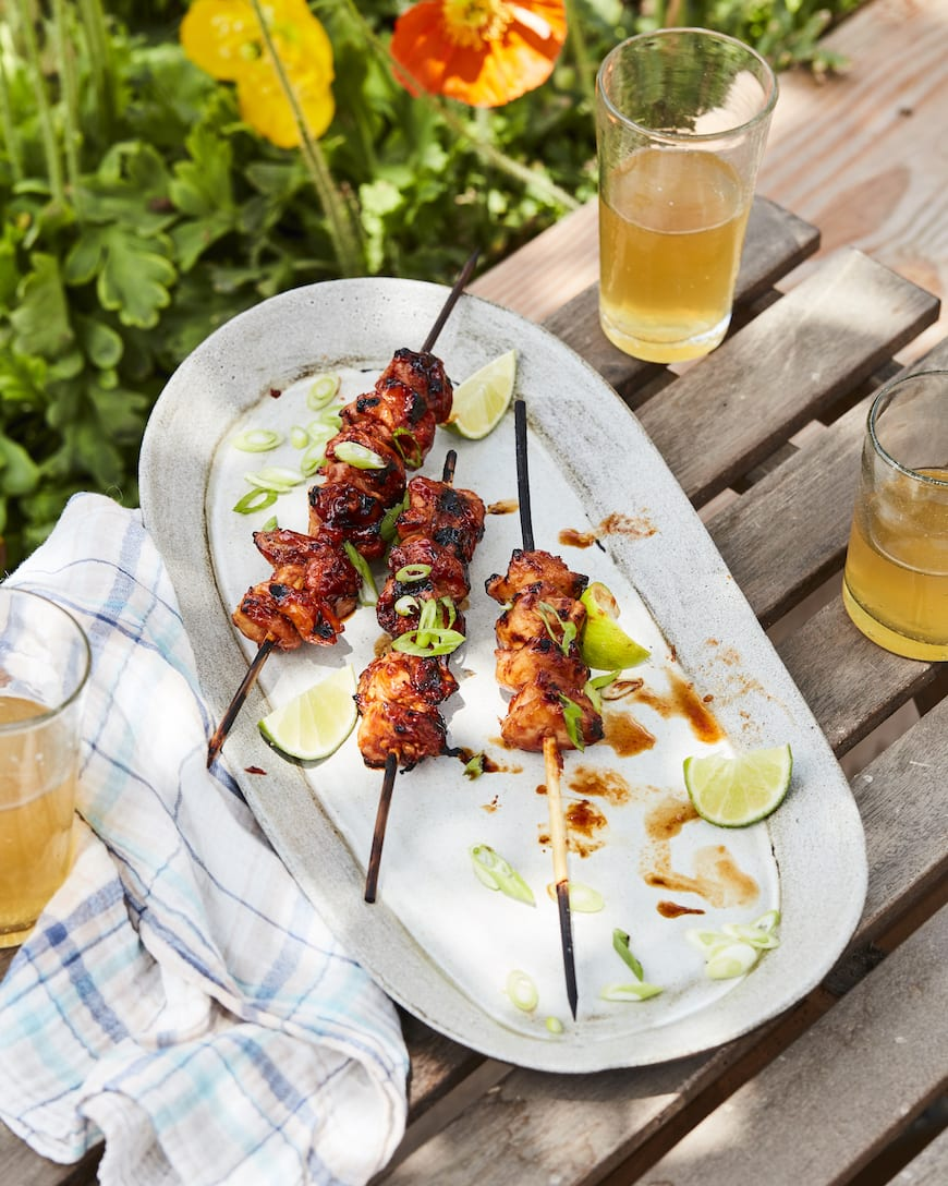 Grilled Korean Chicken Skewers from www.whatsgabycooking.com (@whatsgabycookin)