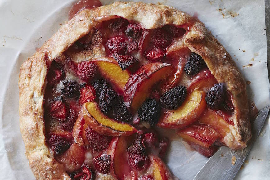 Mixed Berry Peach Galette // Top 10 Summer Desserts from www.whatsgabycooking.com (@whatsgabycookin)