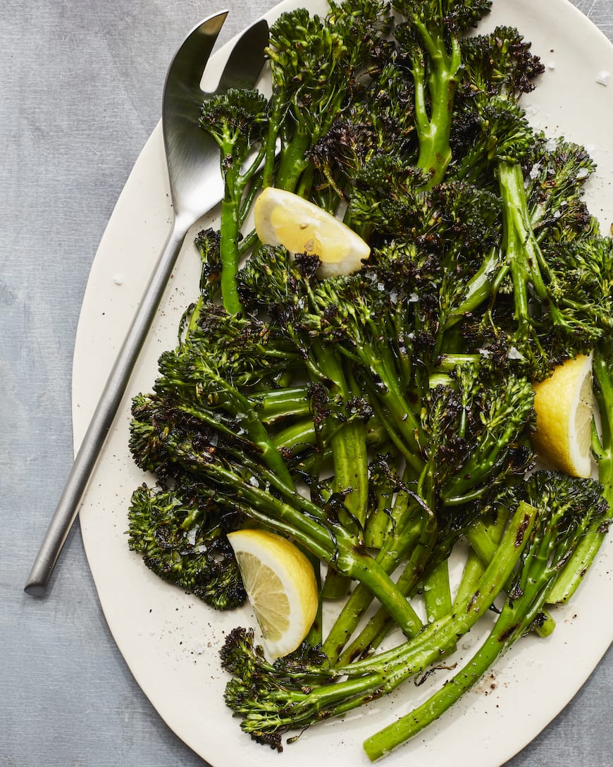Grilled Broccolini from www.whatsgabycooking.com part of the 20 Easy Weeknight Grilling Recipes (@whatsgabycookin)