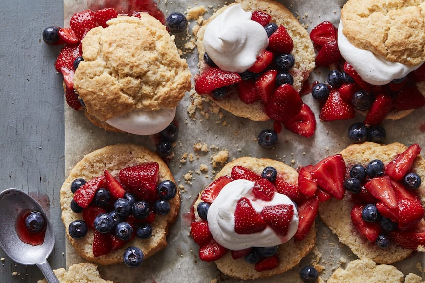 Strawberry Blueberry Shortcakes // Top 10 Summer Desserts from www.whatsgabycooking.com (@whatsgabycookin)