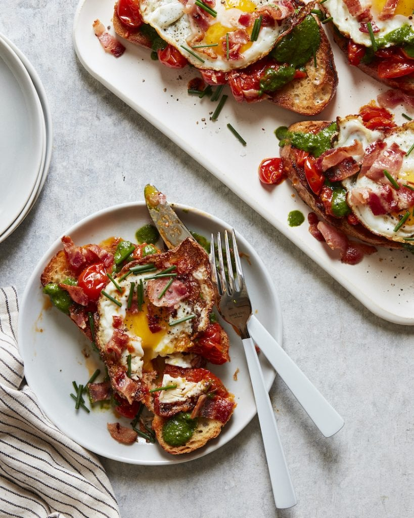 Fried Egg Sandwich with Tomato Confit from www.whatsgabycooking,com (@whatsgabycookin)