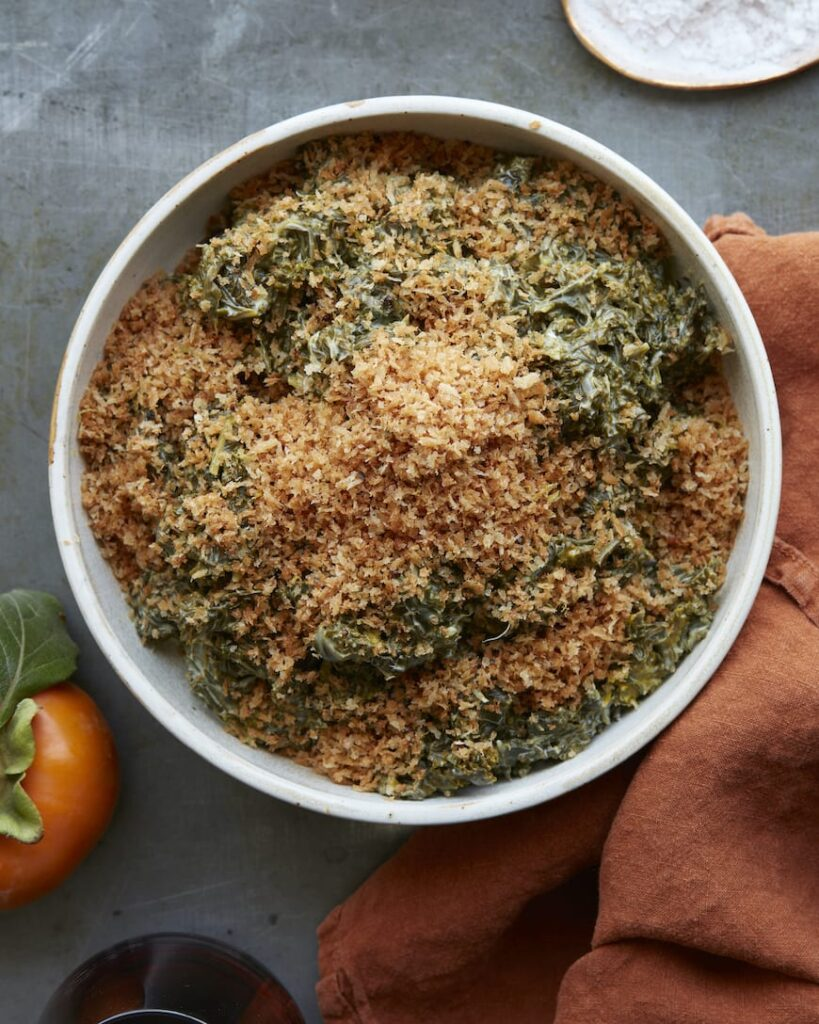 Cheesy Creamed Kale from www.whatsgabycooking.com (@Whatsgabycookin)