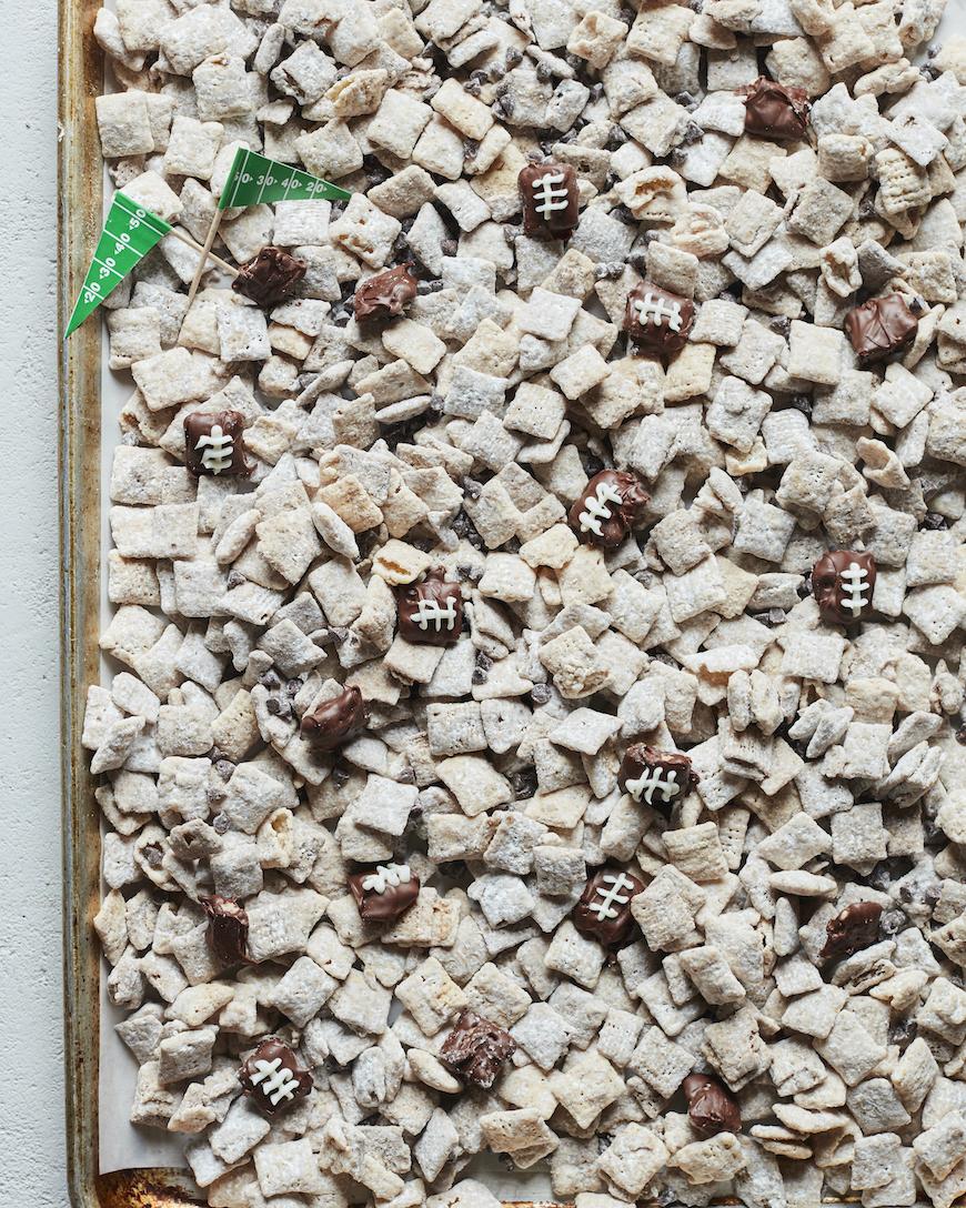 Coconut White Chocolate Muddy Buddies from www.whatsgabycooking.com (@whatsgabycookin)