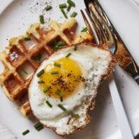Cheesy Herb Waffles