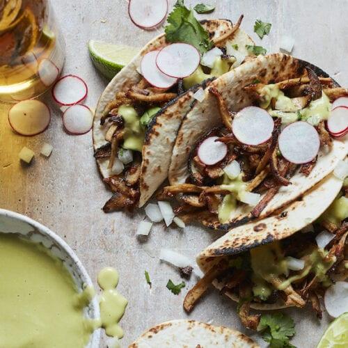 Mushroom Carnitas Taco from www.whatsgabycooking.com (@whatsgabycookin)