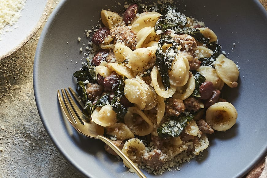 Sausage Kale and Bean Pasta from www.whatsgabycooking.com (@whatsgabycookin)