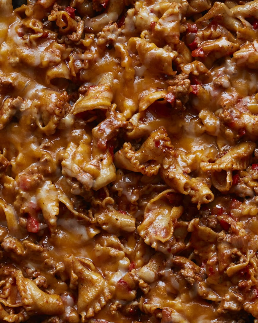 Cheesy Taco Pasta from www.whatsgabycooking.com (@whatsgabycookin)