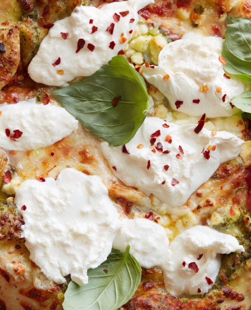 Three Cheese Pizza from www.whatsgabycooking.com (@whatsgabycookin)