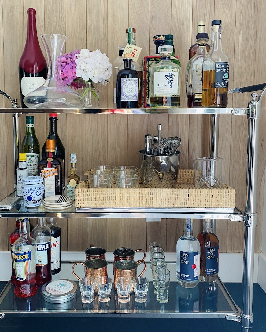 How To Stock A Bar Cart What S Gaby Cooking